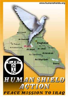 Logo/postcard from humanshields.org